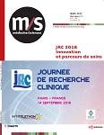 JRC 2018 (Journée de Recherche Clinique) - Innovation et parcours de soins, Paris 14 septembre 2018