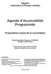 Rapport au Premier Ministre. Agenda d'Accessibilité Programmée