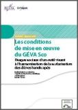 Les conditions de mise en oeuvre du GEVA Sco
