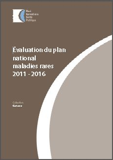 Evaluation du plan national maladies rares 2 - 2011-2016